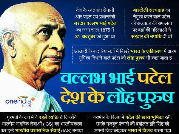 सरदार वल्लभ भाई पटेल Sardar Vallabh Bhai Patel