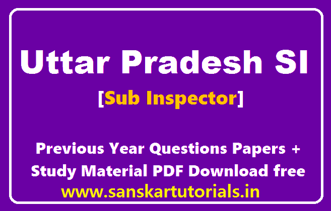 [PDF] UP ASI Previous Year Paper in Hindi & English