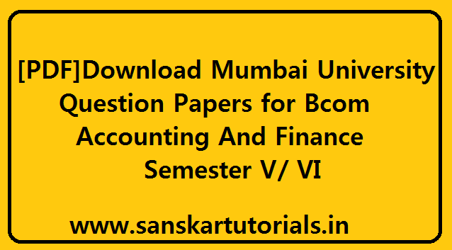 download mumbai university question papers